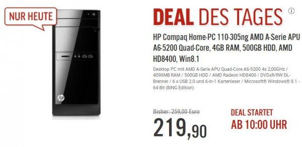 HP Compaq Home-PC 110-305ng Home-PC mit WIn8.1 @ NBB ab 10 Uhr