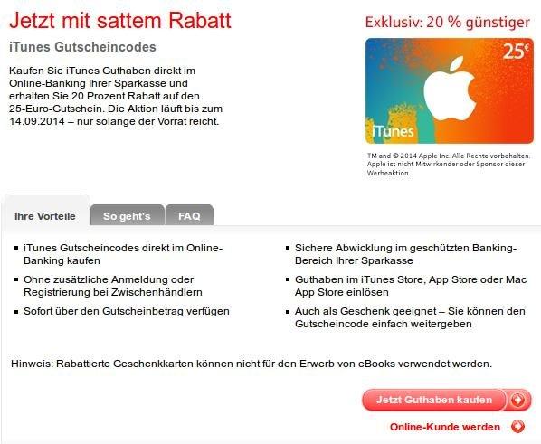 """""""LOKAL"""" Kaiserslautern - 25€ iTunes für 20€"""