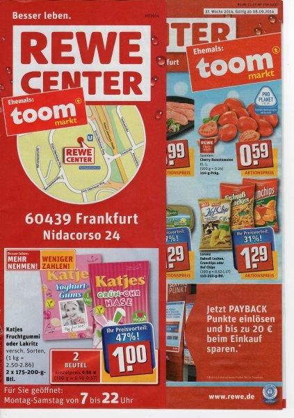 Katjes Fruchtgummi oder Lakritz 2 Beutel nur 1€ - 47% Preisvorteil - eventuell nur Rewe Center Märkte! Lokal???