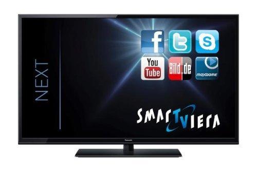 Panasonic TX-L50BLW6 126 cm (50 Zoll) LED-Backlight-Fernseher, EEK A+ (Full HD, 100Hz blb, DVB-S/T/C, WLAN, DLNA, Web-Browser, Smart VIERA und HbbTV) schwarz @Amazon
