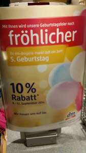 [Lokal Dresden] 10% Rabatt * bei Drogerie DM Kesselsdorfer Str.