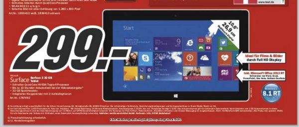 [MediaMarkt] Microsoft Surface 2 32 GB // BUNDESWEIT // auch Online