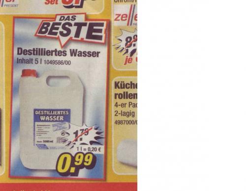 OFFLINE -  5 L Destilliertes Wasser bei POCO nur 99 Cent