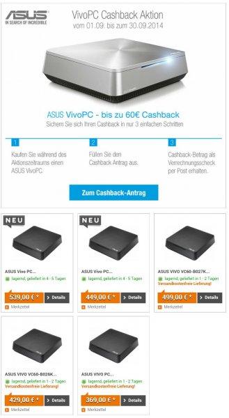 Bis zu 60€ Casback beim Kauf eines Asus Vivo PCs