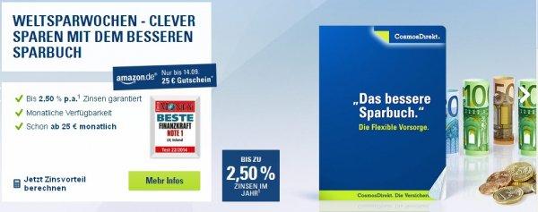 25 Euro Amazon Gutschein bei Abschluß eines CosmosDirekt Vorsorgeplans