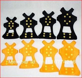 [Aliexpress CN] Schuhspikes mit je 10 Spikes(pro Sohle) für den Winter, Glatteis, Blitzeis !! 2 Paar = 4stück, Schwarz oder Orange,Größe S-XL für Schuhgr.(Eurogröße) 31-48 !! Versand Kostenlos
