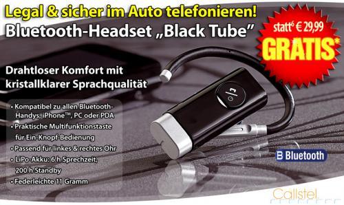 """Bluetooth Headset  """"Black Tube"""" 0€ statt 29,99€ , Nur Versandkosten 4.90€ Zahlen"""