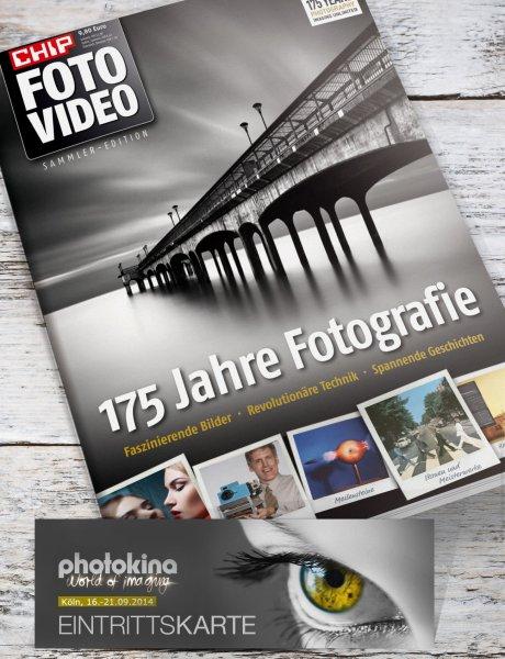 """Photokina Eintrittskarte für 14,80€ statt 29€ bzw 46€ inkl. CHIP FOTO-VIDEO-Sonderheft """"175 Jahre Foto"""""""