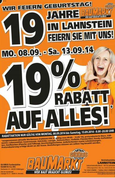 [lokal] 19% im Globus Baumarkt in Lahnstein