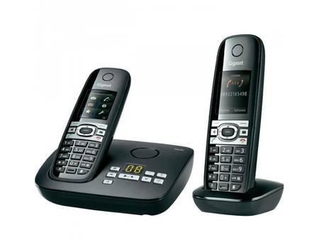 Gigaset C610A Duo Schnurlose Telefon mit Anrufbeantworter schwarz für  66€ @ MeinPaket