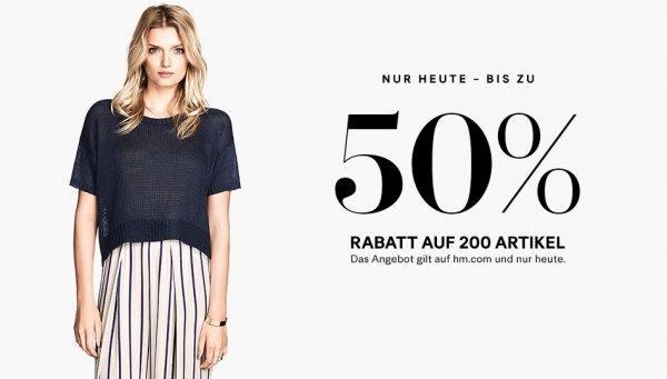H&M 50% auf 200 Artikel