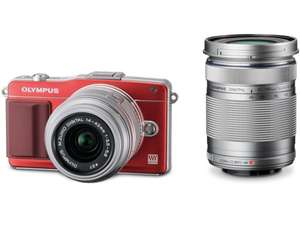 Olympus Pen E-PM2 Kit 14-42 mm + 40-150 mm (rot) für 389€ @ebay