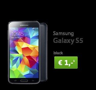 Samsung Galaxy S5 + Otelo Allnet Flat L (Allnet tel. Flat, SMS Flat, 500MB Daten) für 1€, mtl. 25€