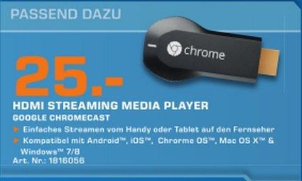 Google Chromecast für 25€ Lokal [Saturn Hamburg]