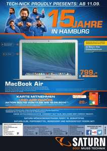 Saturn Hamburg, Apple Macbook Air MD760D/B ab 11.9.2014