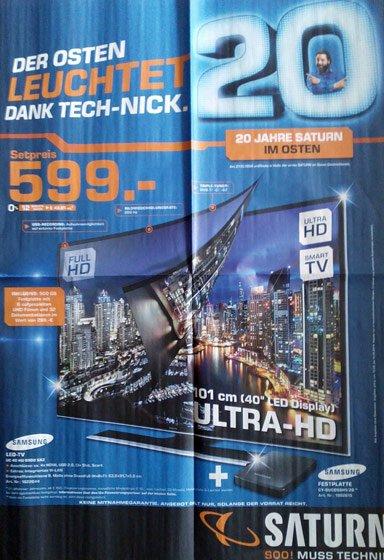 Samsung UHD-TV UE40HU6900 incl. UHD Video Pack CY-SUC05SH1 für 599 Euro