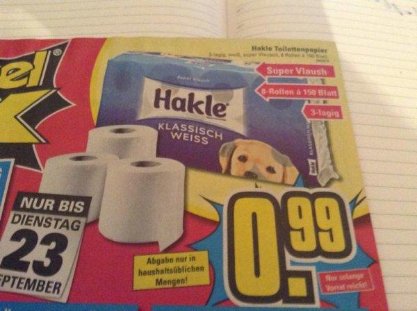 [offline@möbel maxx] Hakle Super Vlaush 3-lagig 8 Rollen a 150 Blatt