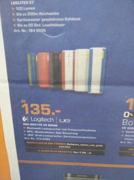 [Lokal] Ue Boom Bluetooth Lautsprecher | Saturn Dortmund