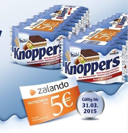 5€-Zalandogutschein auf Knoppers 8/10er-Packung