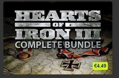Hearts of Iron III Complete Bundle 4,49€ / 3,86€ (VPN) @ BundleStars