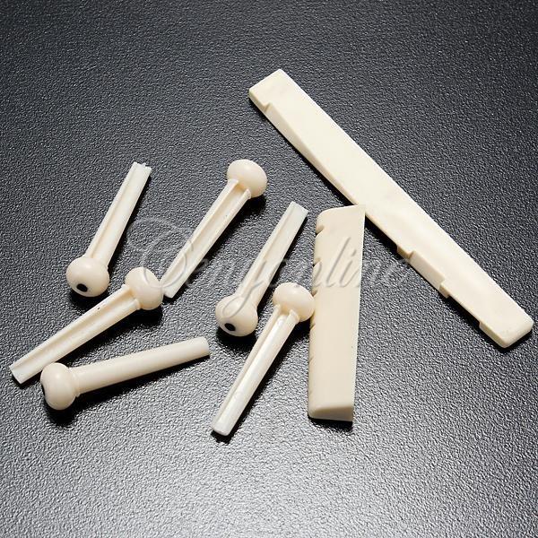6 Pins + Sattel und Steg für Westerngitarren für 77 Cent @ Ebay