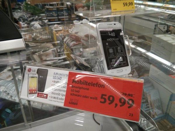 "[Kaiserslautern lokal] LG L40 Smartphone; 3,5"" Einsteigergerät; bei Aldi"