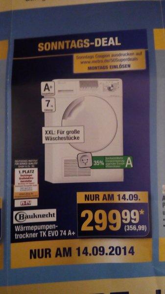 Metro (GK): Wärmepumpentrockner Bauknecht TK EVO 74 A+   für   356,99€   --  31% unter idealo