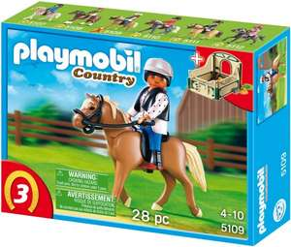 Playmobil™ - Haflinger mit grün-beiger Pferdebox (5109) ab €4,79 [@Karstadt.de]