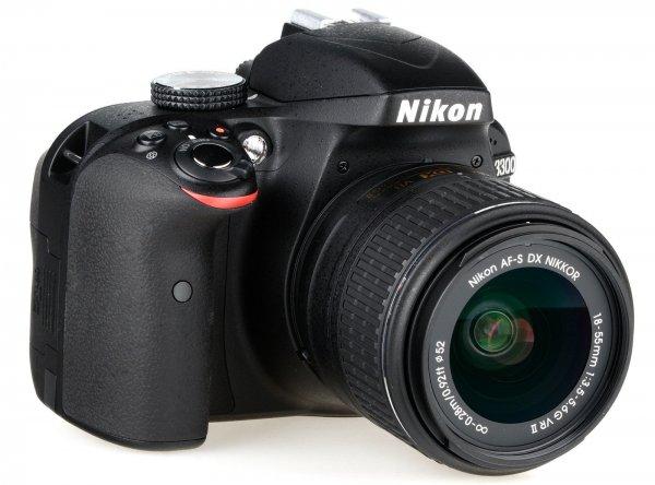 Nikon D3300 KIT 24,2 MP Digitalkamera - Schwarz mit AF-S DX 18-55mm VR II WOW