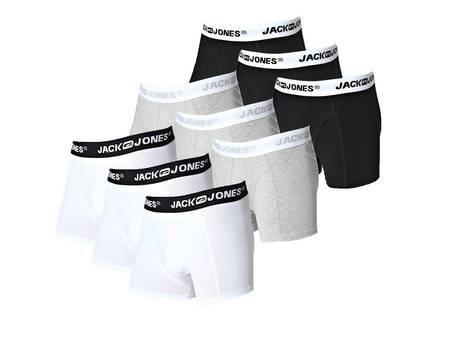 JACK & JONES Boxershorts Herren Trunk Boxer 3 Stück grau, schwarz oder weiß für 17,99€ @ MP OHA