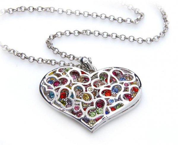 [silvity.de] 6,94 € Collier: Luxus-Herz + XXL Halskette für den dicken Hals (UVP 29,99 €)