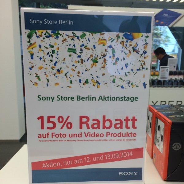 Sony Store Berlin 15% auf alle Foto und Video Produkte