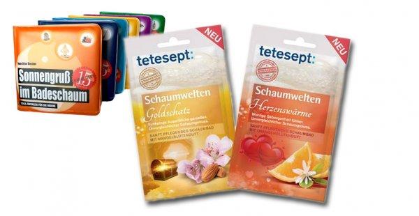 tetesept Badeschaum geschenkt bei Bestellung im wannenbuch.de-Shop