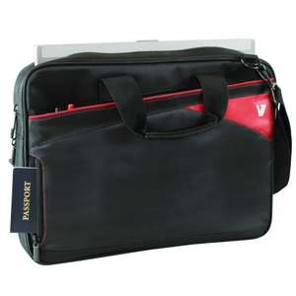 "V7 Notebooktasche ""Edge Toploader"" [rot, bis 36cm (14,1"")] für 3,99€ @ Notebooksbilliger.de"
