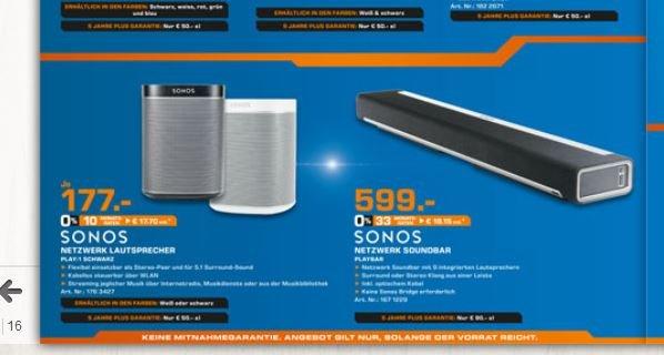 [Lokal Saturn in Soest] Sonos Play 1 / Playbar
