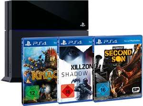 Playstation 4 + Killzone + Knack + inFamous bei Amazon