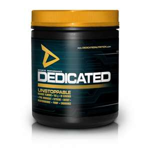 Dedicated Unstoppable Trainingsbooster 50% sparen