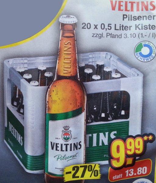 VELTINS 20x0,5 Liter Kiste für 9,99€ (nur am Samstag, 20.09.2014)