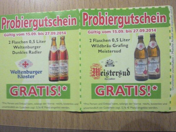 Fleischmann [Lokal Südbayern] Vier Flaschen Bier gratis