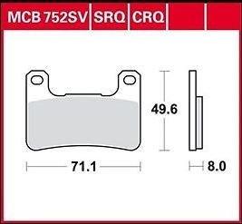 Lucas TRW Bremsbeläge MCB752CRQ (Satz)