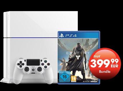 [Offiziell bei Gamestop] Playstation4 weiß + Destiny für 399.99€ - 40€ Ersparnis
