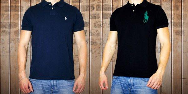 [DailyDeal] Ralph Lauren Poloshirt Custom Fit blau oder schwarz 39,95 €