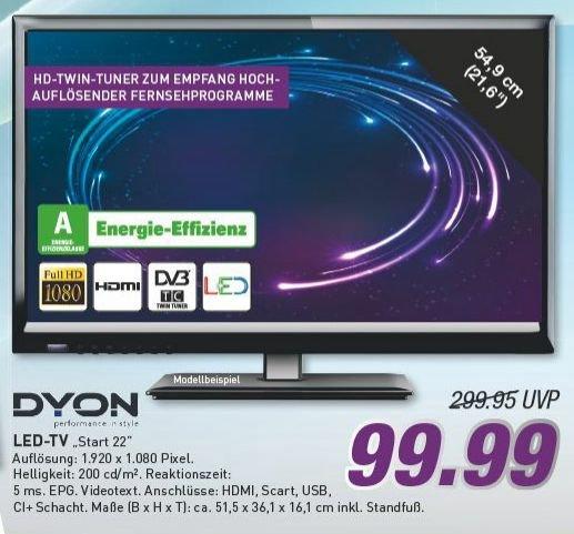 "[Marktkauf evtl. nur regional MünSter] Dyon Start 22"" LED-TV (DVB-T, -C;CI+, FullHD[?]) für 99€  (Idealo ~ 119€)"