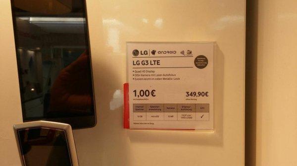 [LOKAL Nürnberg] LG G3 16GB im Vodafone Shop 349,- EUR ohne Vertrag