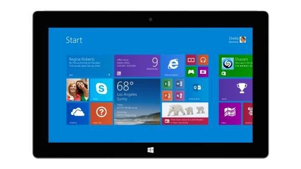 Microsoft Surface 2 mit 15 Euro Gutschein  dazu.