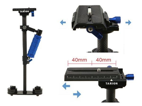 Schwebestativ / Steadycam / Flycam Tarion 40cm Karbon mit guter Mechanik (B-Ware)