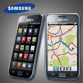 Samsung Smartphone Galaxy S I9000 mit Medion Navi App