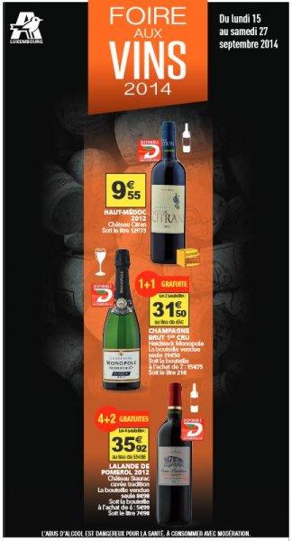 [Lokal, Offline] Luxemburg, Auchan: Spirituosen günstig kaufen (z.B. für Champagner 43% Ersparnis)