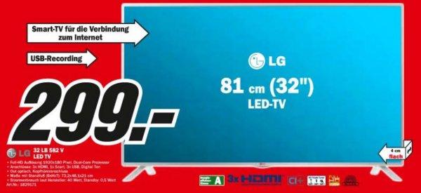 """[Mediamarkt] LG 32LB582V 32""""/80cm Smart-TV // 299€"""