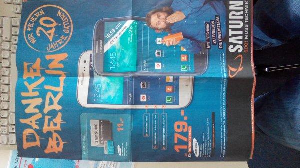 Samsung Galaxy S3 Neo Saturn Berlin 179 Euro LOKAL